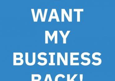 GO GABA Gründer sucht mit der Kampagne Iwantmybusinessback.com die Aufmerksamkeit von Unternehmern